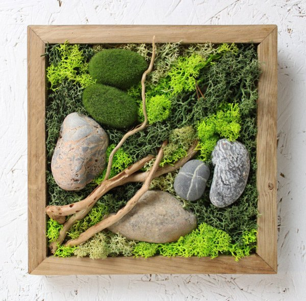 Oak-framed-moss-art