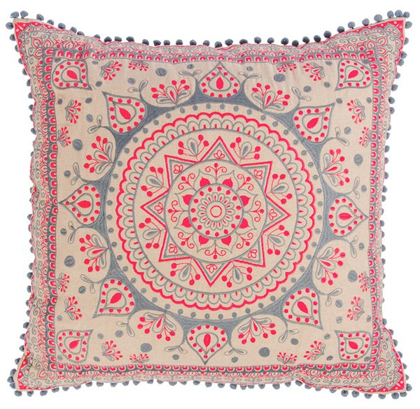 Mandala-Large-Cushion-Cover-With-Pom-Poms
